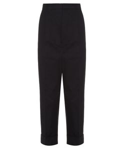 Marni | Mid-Rise Cropped Cotton Trousers