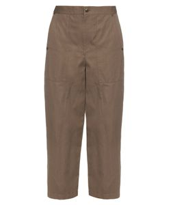Helmut Lang | High-Rise Wide-Leg Cotton And Linen-Blend Trousers