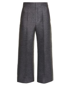 Lanvin | Wide-Leg Flannel Cropped Trousers