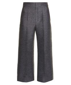 Lanvin | Wide-Leg Flannel Cropped Trousers
