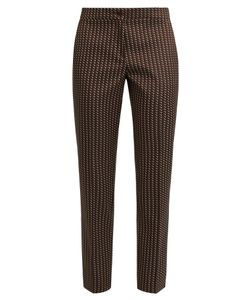 Etro | Chevron-Jacquard Cropped Trousers