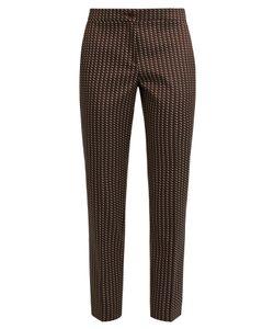 Etro | Chevron-Jacquard Cropped Trousers