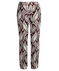 Giambattista Valli | Leaf-Jacquard Flared Trousers
