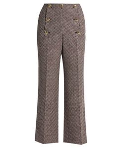 Sonia Rykiel | High-Waisted Fla Wool-Tweed Trousers