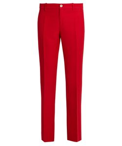 Gucci | Mid-Rise Kick-Flare Wool And Silk-Blend Trousers