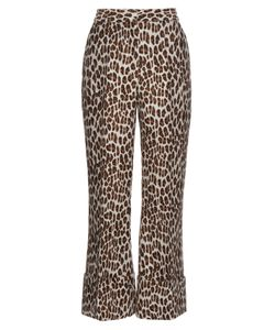 Stella McCartney | -Print Wool-Blend Cropped Trousers