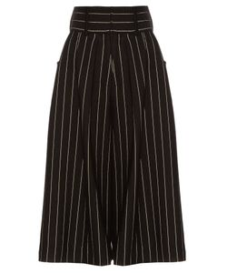 J.W.Anderson | Striped Pleat-Front Culottes