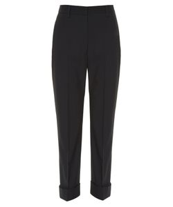 Jil Sander | Vinicio High-Rise Cropped Wool-Blend Trousers