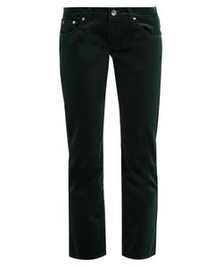 Mm6 Maison Margiela | Low-Rise Cropped Velvet Trousers