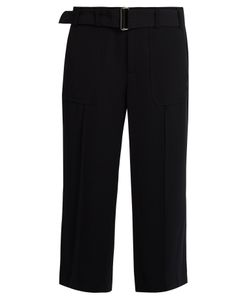 Vince | High-Rise Wide-Leg Crepe Trousers