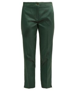 Etro | Chevron-Jacquard Straight-Leg Trousers