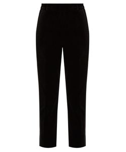 Racil | Aries Slim-Leg Velvet Trousers