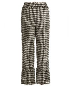 Erdem | Verity Straight-Leg Hounds-Tooth Trousers