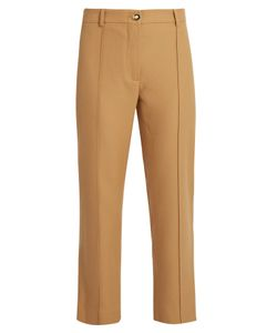 SIES MARJAN | Flared-Leg Wool-Twill Cropped Trousers