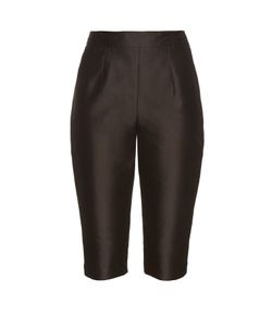 Isa Arfen | High-Waisted Cotton-Blend Capri Trousers