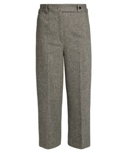 RED Valentino | Chevron-Tweed Slim-Leg Wool-Blend Trousers
