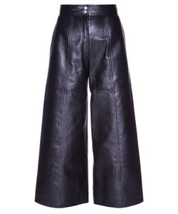 Saint Laurent | High-Waisted Leather Culottes