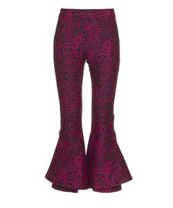 Mary Katrantzou | Clockwork Paisley-Jacquard Kick-Flare Trousers