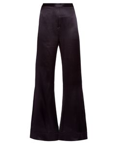 Ellery | Revolver Flared Silk-Satin Trousers