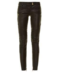 Balmain | Skinny-Leg Leather Biker Trousers
