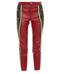 Chloé | Slim-Leg Cropped Leather Trousers