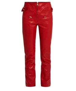 Isabel Marant | Florrie Slim-Leg Leather Trousers
