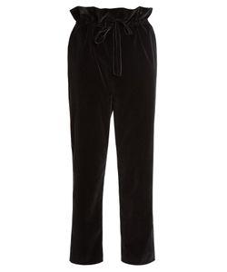 Isa Arfen | Straight Leg Cotton-Blend Velvet Trousers