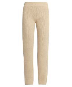 Ryan Roche | Slim-Leg Ribbed-Knit Cashmere Trousers