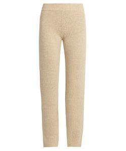 Ryan Roche | Slim-Leg Ribbed-Knit Cashmere Trousers