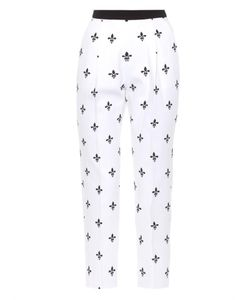 Caterina Gatta | Printed Cotton-Piqué Trousers