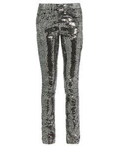 Saint Laurent | Sequin-Embellished Skinny Jeans