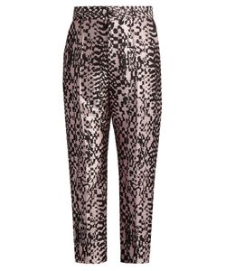 Haider Ackermann | Madeleine High-Rise Silk-Blend Jacquard Trousers