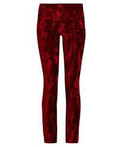 Haider Ackermann | Madame Skinny-Leg Velvet And Leather Trousers