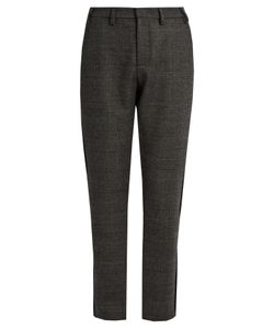 NO. 21 | Prince Of Wales-Checked Wool-Blend Trousers