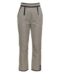 Isa Arfen | High-Waisted Checked Cotton-Blend Trousers