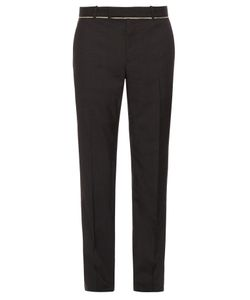 Alexander McQueen | Slim-Fit Raw-Edge Trousers