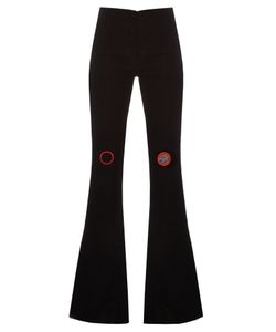 Thomas Tait | High-Rise Flared Crepe Trousers