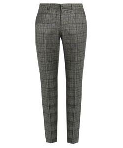 Gucci | Mid-Rise Tartan Wool Trousers