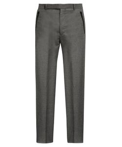 Balenciaga | Wide-Leg Flannel-Wool Trousers