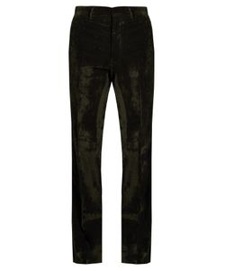 BOTTEGA VENETA | Loose-Fit Brushed-Velvet Trousers