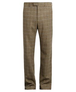 Gucci | Checked Straight-Leg Wool Trousers