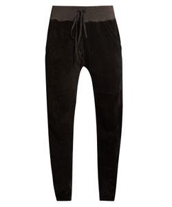 Longjourney | Aa Slim-Leg Cotton-Velvet Track Pants