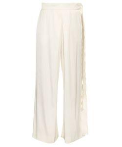 Maison Rabih Kayrouz | Belted Wide-Leg Silk-Blend Satin Trousers