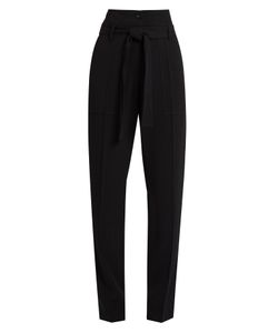 Vanessa Bruno | Espagny High-Rise Tapered-Leg Crepe Trousers