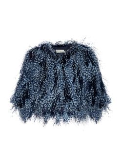Mary Katrantzou | Spike Feather Cropped Jacket