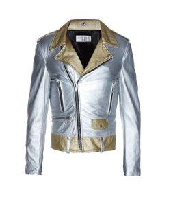Saint Laurent | Metallic-Leather Biker Jacket