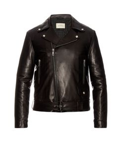 Gucci | Classic Leather Biker Jacket