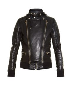 Balmain | Quilted Leather Bomber Jacket