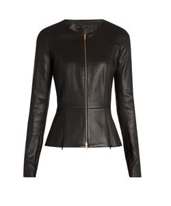 The Row | Anaste Collarless Leather Jacket