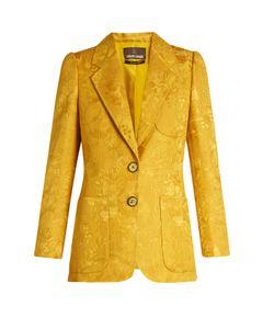 Roberto Cavalli   Wool And Silk-Blend Brocade Jacket